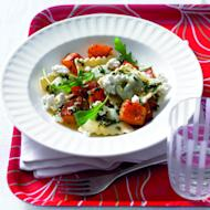 Fresh and moreish, this pasta recipe is a herby, cheesy delight