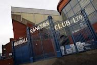 The entrance to Glasgow Rangers football club's Ibrox ground in Glasgow, Scotland, pictured in February 2012. Administrators said Thursday they would consider three of the four bids submitted for Scottish champions Rangers