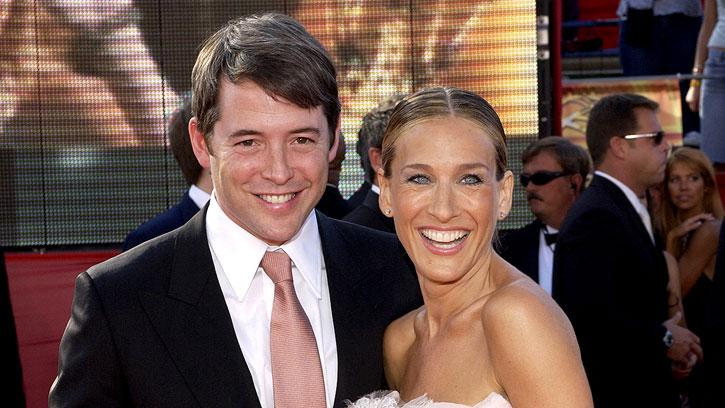 Matthew Broderick and Sarah Jessica Parker at The 55th Annual Primetime Emmy Awards.