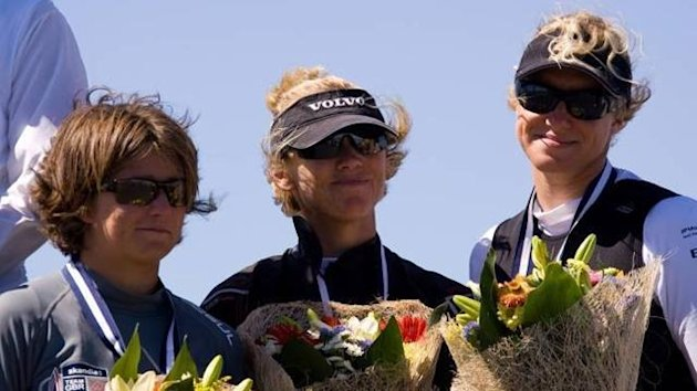SAILING: (L to R) Shelley Robertson, Annie Lush and Lucy MacGregor