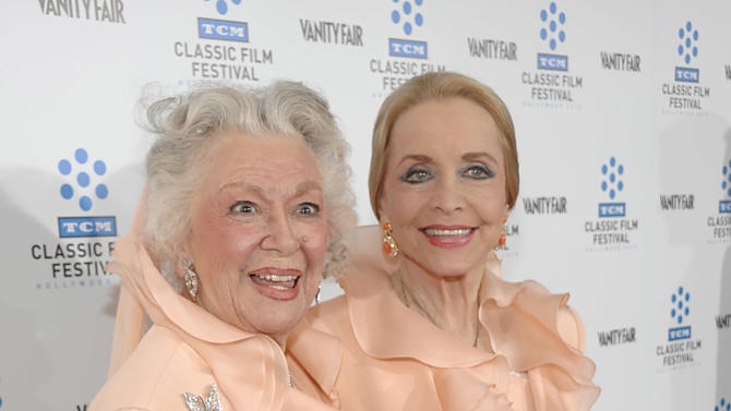 "FILE - This April 22, 2010 file photo shows actresses Ann Rutherford, left, and Anne Jeffreys at the premiere of the newly restored feature film ""A Star Is Born"" in Los Angeles. Rutherford, who played Scarlett O'Hara's sister Carreen in the 1939 movie classic ""Gone With the Wind,"" died at her home in Beverly Hills, Calif. on Monday, June 11, 2012.  She was 94. (AP Photo/Dan Steinberg, file)"