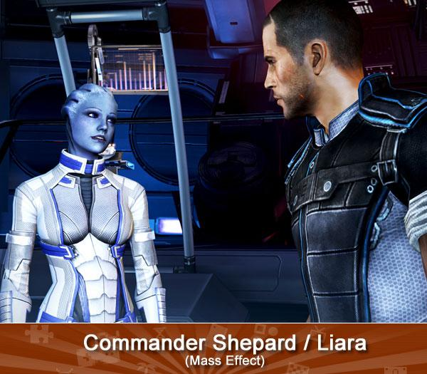 Commander Shepard and Liara (Mass Effect)