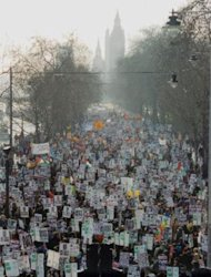 The London anti-Iraq March, February, 2003
