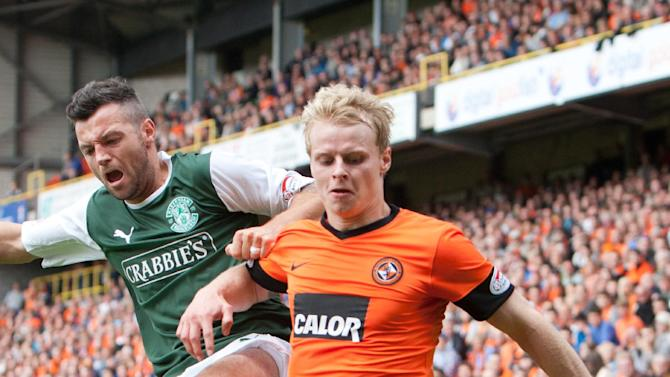 Dundee United's Gary Mackay-Steven, right, might not need surgery