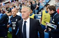 French national football team head coach Didier Deschamps arrives to attend the friendly football match France vs Uruguay at the Oceane stadium in Le Havre, western France. The match ended in a 0-0 draw