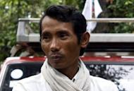 This file photo, taken in June 2011 and released by the Cambodian Center for Human Rights (CCHR), shows Chhut Vuthy, then president of the Natural Resource Conservation Group. Chhut Vuthy was gunned down on April 26 by a military policeman as he tried to expose illegal logging