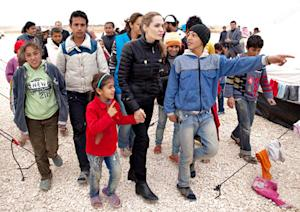 NEW PICTURES: Angelina Jolie Meets With Refugee Children in Jordan