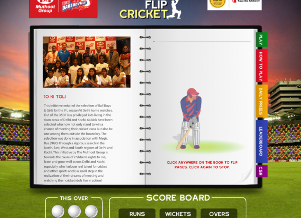 Play Flip Cricket To Join Muthoot Group's CSR Initiative To Help Underprivileged Kids' Education
