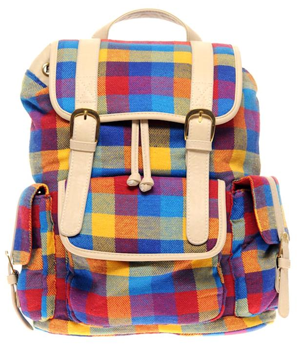 Multi Check Backpack, $60.34, at ASOS
