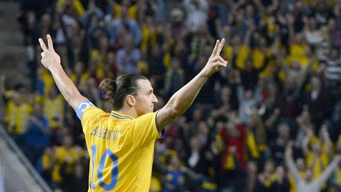Euro 2016 Qualifying - Zlatan scores twice as Sweden beat Moldova, Austria run riot in Liechtenstein
