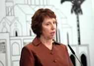 Britain, France and Germany have officially called for new European Union sanctions against Iran over its nuclear program, diplomats said Sunday. The foreign ministers of the three countries wrote to EU foreign policy chief Catherine Ashton, pictured in May 2012, calling for tougher measures.
