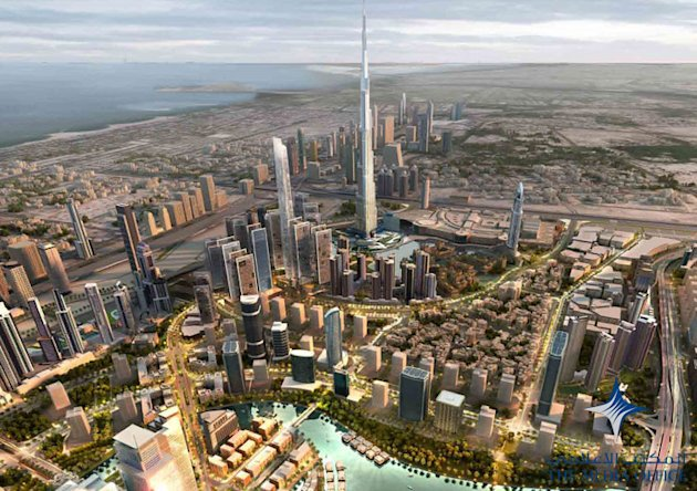 Artist's illustration of the grand Mohammed Bin Rashid City project