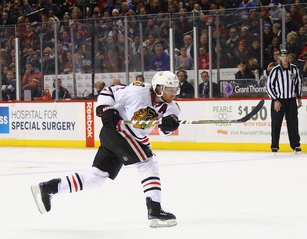 NEW YORK, NY - DECEMBER 15: Duncan Keith #2 of the Chicago Blackhawks skates against the New York Islanders at the Barclays Center on December 15, 2016 in the Brooklyn borough of New York City. The Blackhawks defeated the Islanders 5-4. (Photo by Bruce Bennett/Getty Images)