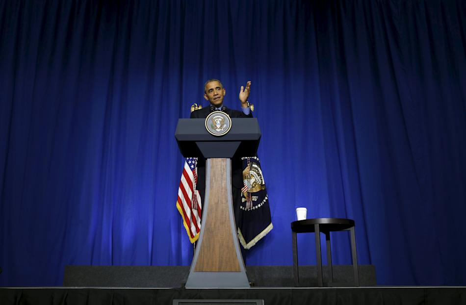 U.S. President Barack Obama holds a news conference at the conclusion of his visit to Paris, France