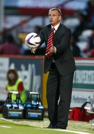 Gary Smith's Stevenage after just a point off top spot in npower League One