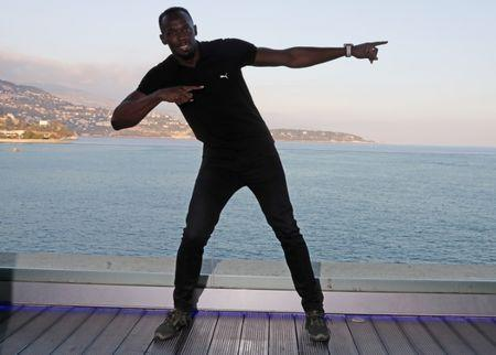Usain Bolt of Jamaica poses before a press conference for the 2016 IAAF Athletics Awards in Monaco