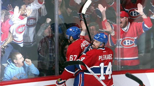Ice Hockey - Canadiens sweep past Lightning