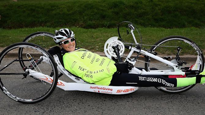 Claire Lomas Sets Off On 400-mile Hand-cycle Challenge