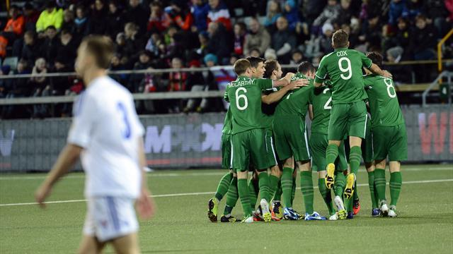 World Cup: Ireland beat Faroes, Germany blow four-goal lead
