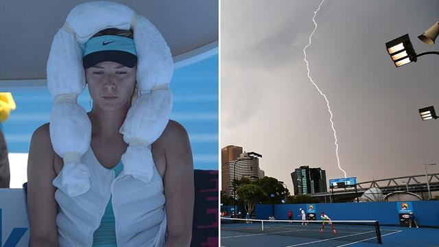 Australian Open - 'Very dangerous' heat, then lightning wreaks havoc