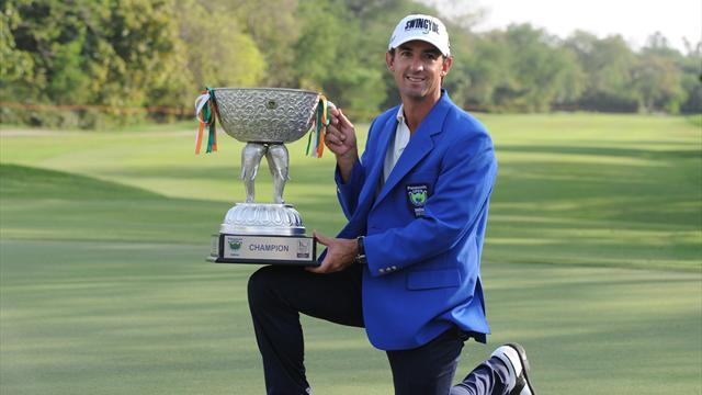 Golf - Ormsby holds nerve for maiden victory in Delhi