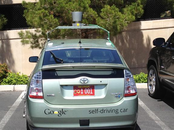 One of three self-driving Google cars Nevada has licensed the company to test anywhere in the state.