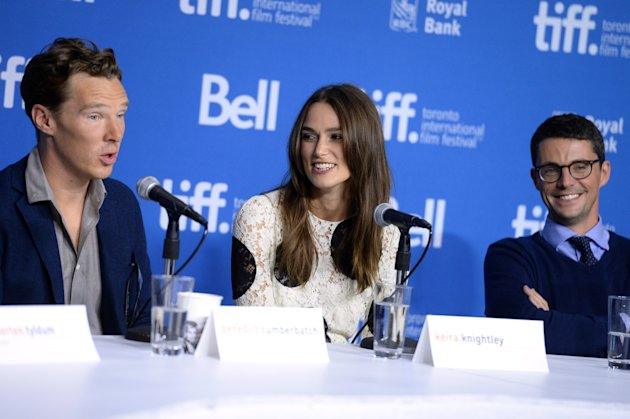 Benedict Cumberbatch and Keira Knightley promote their Alan Turing biopic The Imitation Game at TIFF 2014. (Photo by Jason Merritt/Getty Images)