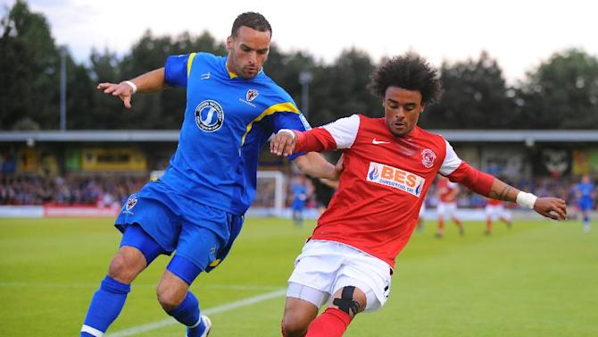 Junior Brown is enjoying his new role as a left winger for Fleetwood