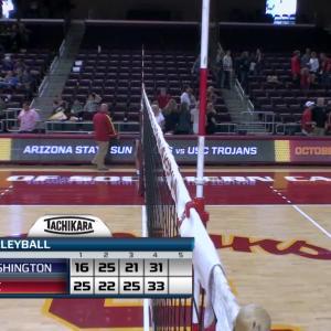 Recap: USC women's volleyball wins four-set thriller over Washington
