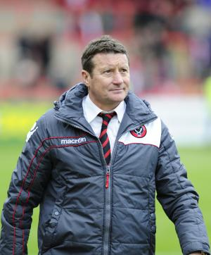 Danny Wilson, pictured, was left unimpressed with referee Steven Rushton