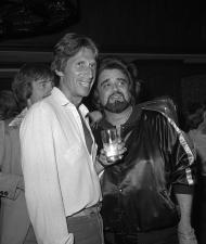 "This 1979 photo released by the Las Vegas News Bureau shows David Brenner and Wolfman Jack at the Riviera. A spokesman for the family of the comedian says the ""Tonight Show"" favorite has died. He was 78. Brenner died Saturday March 15, 2014, at his home in New York City, said Jeff Abraham, who was Brenner's publicist. (AP Photo/ Las Vegas News Bureau)"
