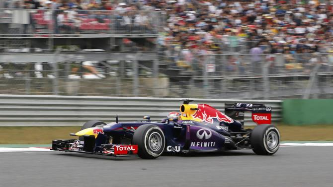 Red Bull Formula One driver Vettel races during the Korean F1 Grand Prix at the Korea International Circuit in Yeongam