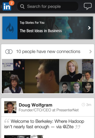 LinkedIn Has a Gorgeous New Mobile App image LinkedIn Home