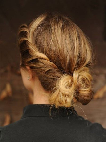 Sassy updo for short hair