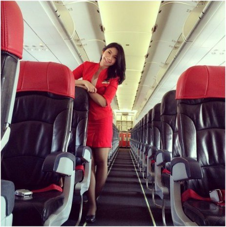 AirAsia stewardess Khairunisa Haidar Fauzi, 22, studied law at Indonesia's Universitas Sriwijaya. (Photo: The Malaysian Insider)