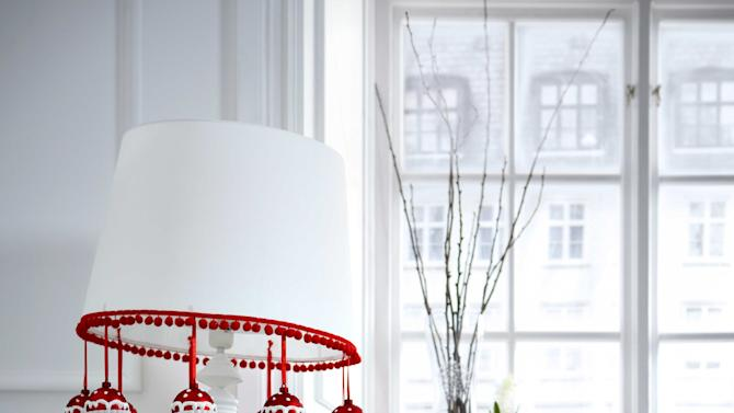 ikea floor lamp Space-saving Christmas tree alternatives
