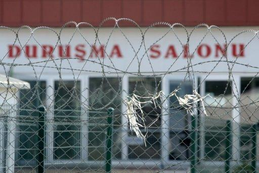 The court building in Silivri, near Istanbul. A Turkish court is poised to hand down the first verdicts in the trial of hundreds of military officers accused of plotting to overthrow the Islamic-rooted government