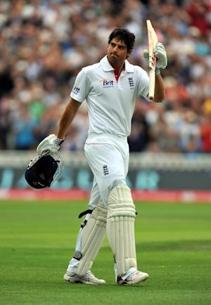 Alastair Cook was finally dismissed for 176 on the final morning of the first Test