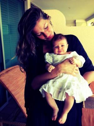 Gisele Bundchen and baby Vivian Lake -- Facebook