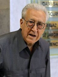 UN peace envoy to Syria Lakhdar Brahimi leaves following a meeting with Syrian opposition in Damascus. Brahimi ended his first visit to the country on a peace mission a rebel commander said was doomed to fail