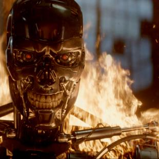 """This photo provided by Paramount Pictures shows, Series T-800 Robot, in """"Terminator Genisys,"""" from Paramount Pictures and Skydance Productions. (Paramount Pictures via AP)"""