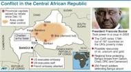 Factfile with map on the conflict in the Central African Republic as at December 28, 1012, including location of Chadian troops. The Central African Republic's neighbours took steps Friday to tackle the crisis in the chronically unstable nation, where rebels have advanced towards the capital Bangui, stoking local and international alarm.