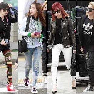 2NE1 Spotted at Incheon Airport