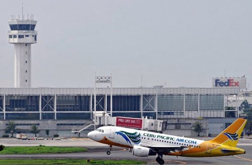 A Cebu Pacific plane taking off at the Ninoy Aquino International Airport (NAIA) in Manila. The Philippine government said Tuesday it was aiming to boost passenger capacity at its congested Manila airport next year with the long-awaited completion of a controversial terminal