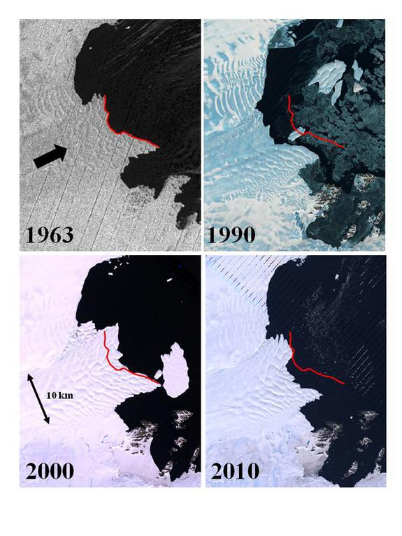 Spy Satellite Data Reveal Antarctic Ice Vulnerability