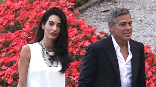 George Clooney Vacations in Italy With Amal Alamuddin and Her Mom (ABC News)