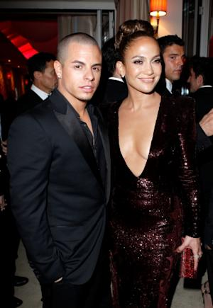 Casper Smart and Jennifer Lopez are spotted at the 2012 Vanity Fair Oscar Party at Sunset Tower in West Hollywood, Calif. on February 26, 2012 -- WireImage