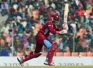 West Indies cricketer Sunil Narine plays a shot during the first one day international cricket match between Bangladesh and The West Indies at The Sheikh Abu Naser Stadium in Khulna on November 30. Bangladesh captain Mushfiqur Rahim won the toss and sent the West Indies into bat in the fifth and final one-day international at Shere Bangla stadium on Saturday