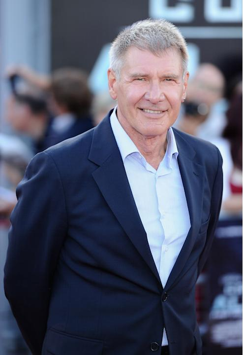 Actor Harrison Ford attends the 'Cowboys and Aliens' UK film premiere at the 02 Arena on August 11, 2011 in London, England. (Photo by Ian Gavan/Getty Images)