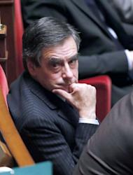 French former prime minister Francois Fillon December 11, 2012 at the National Assembly in Paris. Fillon and Jean-Francois Cope would like to see the UMP united before the next parliamentary session opens, on January 15, so as to present an effective opposition to the government of Socialist President Francois Hollande.